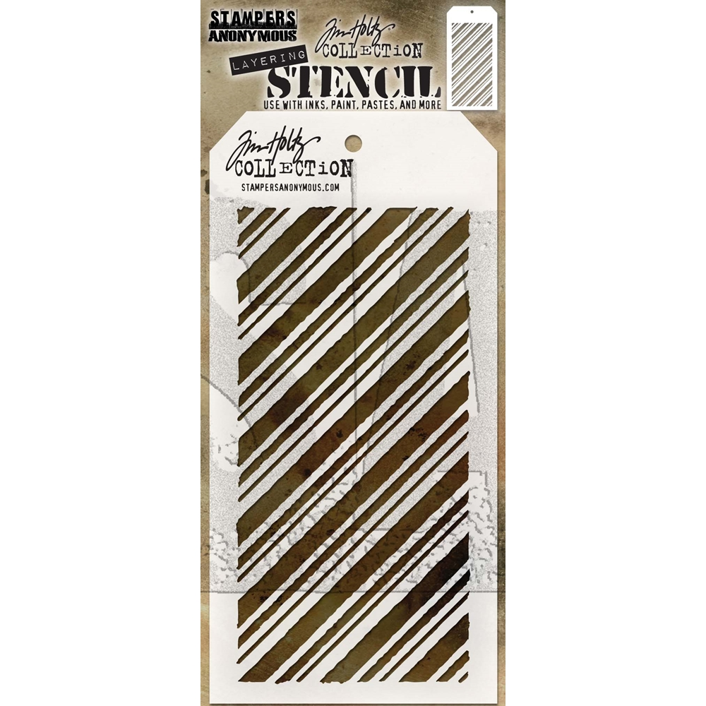 Tim Holtz Layering Stencil PEPPERMINT THS095 zoom image