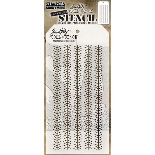 Tim Holtz Layering Stencil TINSEL THS094 Preview Image