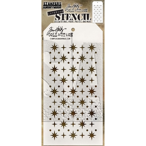 Tim Holtz Layering Stencil STARRY THS093 Preview Image