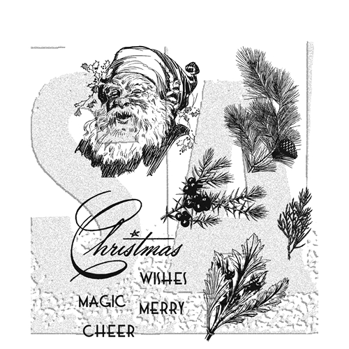 Tim Holtz Cling Rubber Stamps CHRISTMAS CLASSIC CMS322 Preview Image