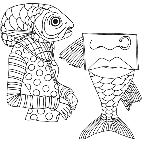 Dyan Reaveley FISH FACE Cling Stamp DYR59493* Preview Image