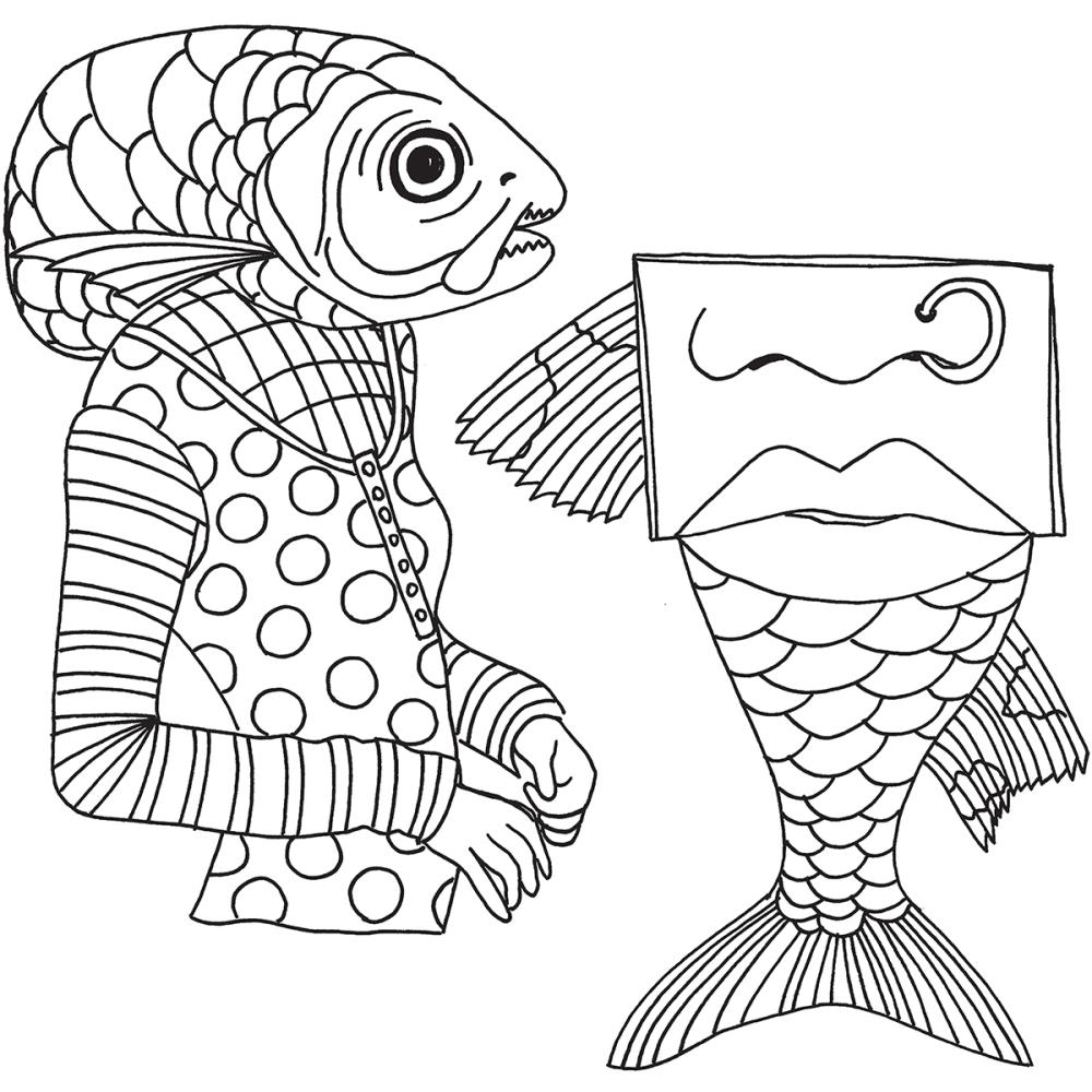 Dyan Reaveley FISH FACE Cling Stamp DYR59493* zoom image