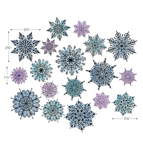 Tim Holtz Sizzix SWIRLY SNOWFLAKES Dies 662436 Preview Image
