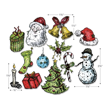 Tim Holtz Sizzix TATTERED CHRISTMAS Dies Set 662437