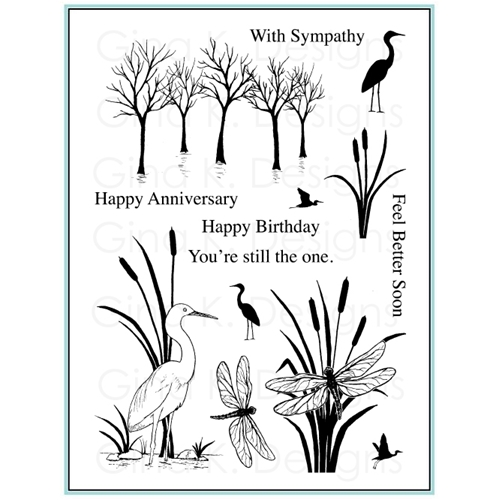 Gina K Designs THE WETLANDS 2 Clear Stamps 9858 Preview Image