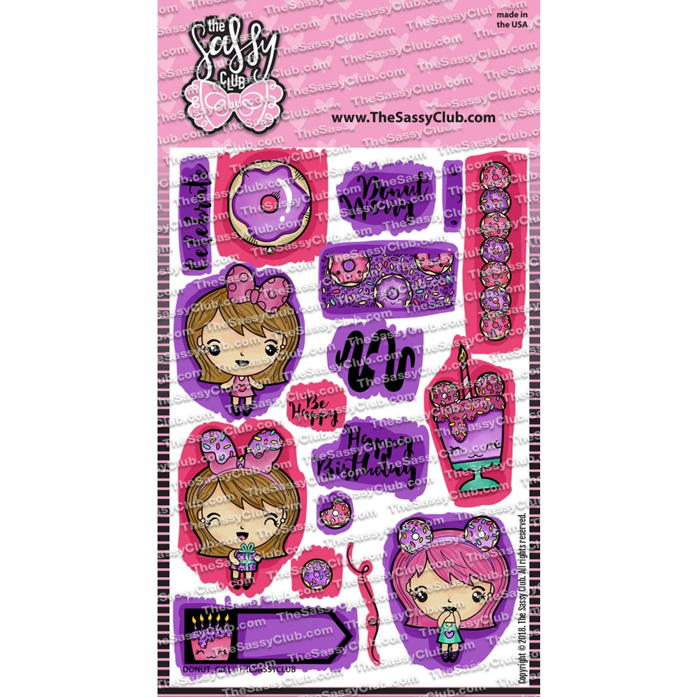 The Sassy Club DONUT GIRL Clear Stamps TSCL027* zoom image