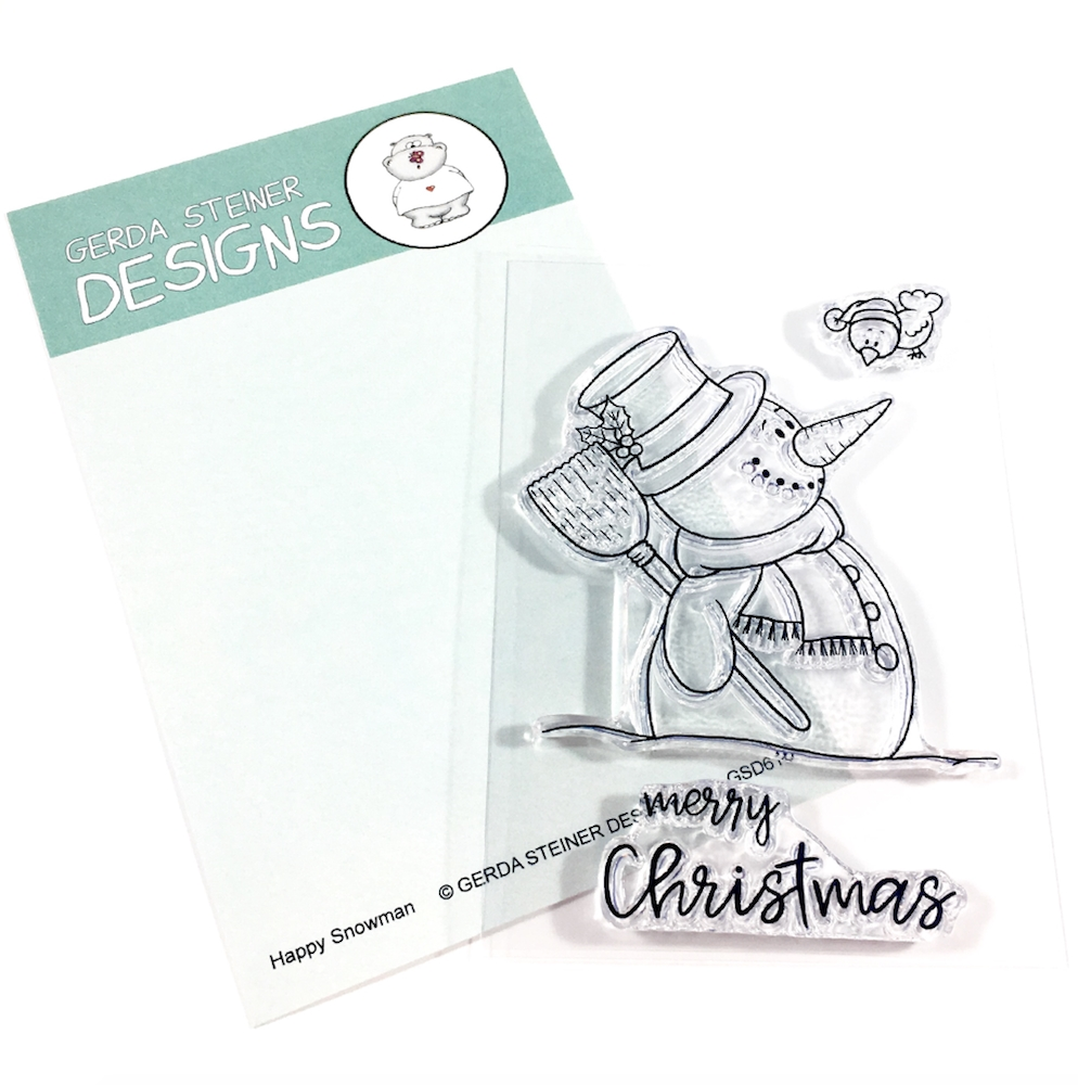 Gerda Steiner Designs HAPPY SNOWMAN Clear Stamp Set GSD616 zoom image