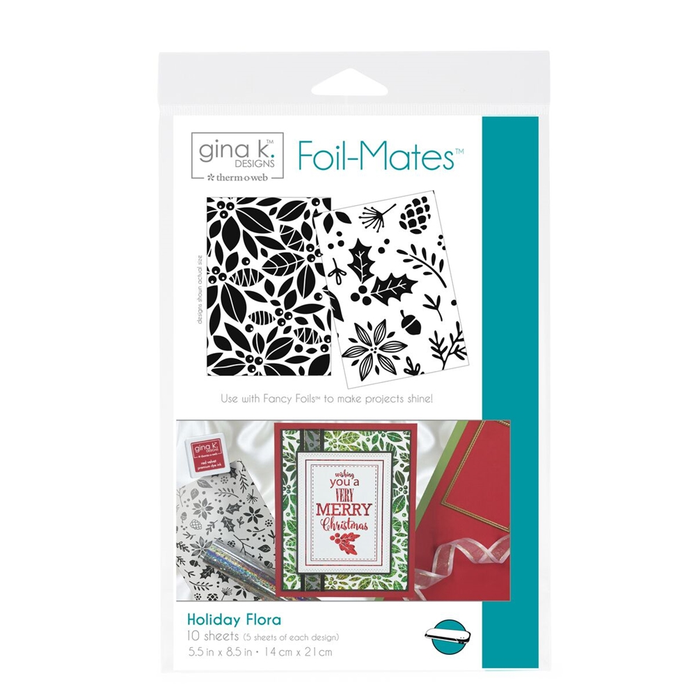 Therm O Web Gina K Designs HOLIDAY FLORA Foil-Mates Sheets 18054 zoom image