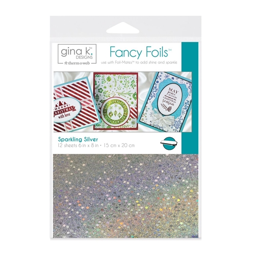 Therm O Web Gina K Designs SPARKLING SILVER Fancy Foils Deco Foil 18061 Preview Image