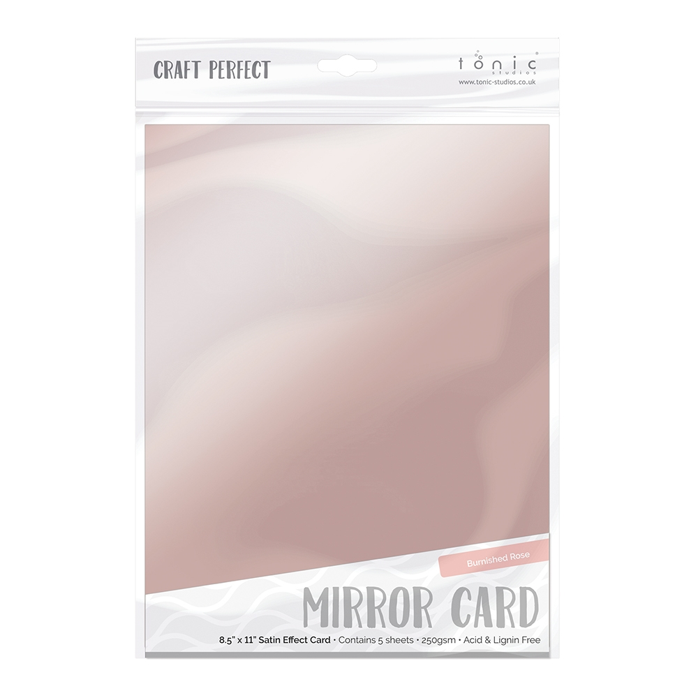 Tonic BURNISHED ROSE Mirror Card Satin Cardstock 9488E zoom image