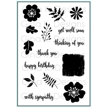 Gina K Designs SENTIMENTAL BOUQUET Clear Stamps 9421*