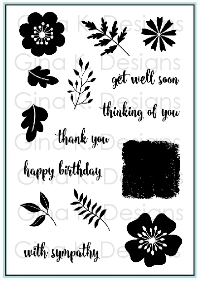 Gina K Designs SENTIMENTAL BOUQUET Clear Stamps 9421 zoom image