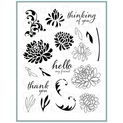 Gina K Designs DAZZLING DAHLIA Clear Stamps 9452 Preview Image