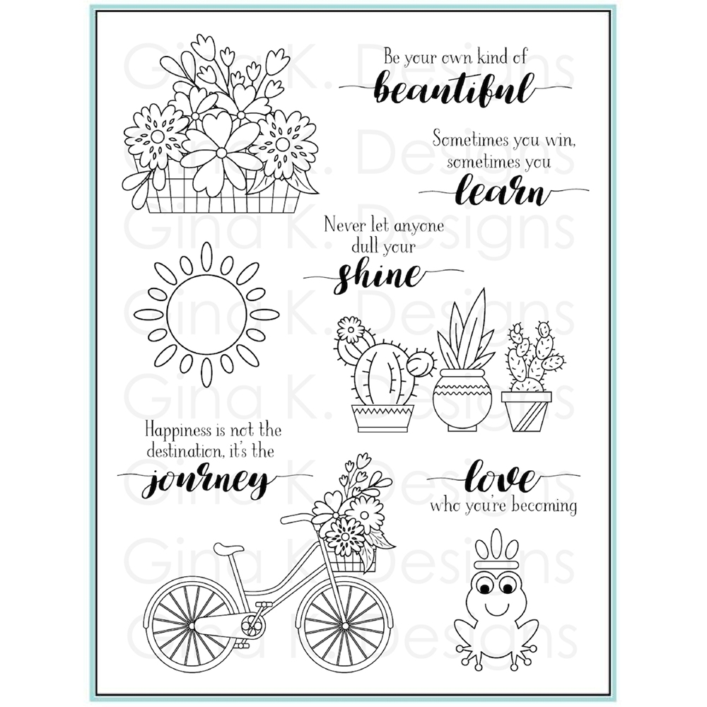 Gina K Designs YOUR OWN KIND OF BEAUTIFUL Clear Stamps 9476 zoom image
