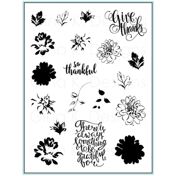 Gina K Designs PAINTED AUTUMN Clear Stamps 9490