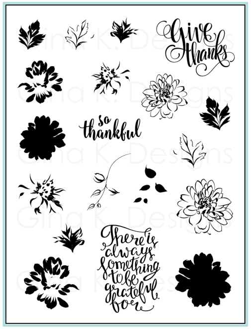 Gina K Designs PAINTED AUTUMN Clear Stamps 9490 zoom image