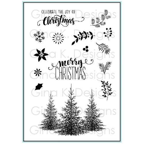 Gina K Designs CHRISTMAS GREENERY Clear Stamps 9513 Preview Image