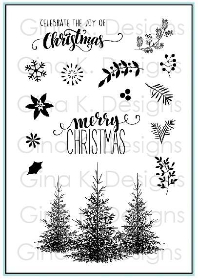 Gina K Designs CHRISTMAS GREENERY Clear Stamps 9513 zoom image