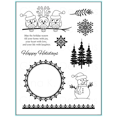 Gina K Designs HOLIDAY SEASON Clear Stamps 9568* Preview Image