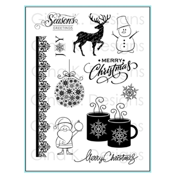 Gina K Designs SEASON'S GREETINGS Clear Stamps 9629