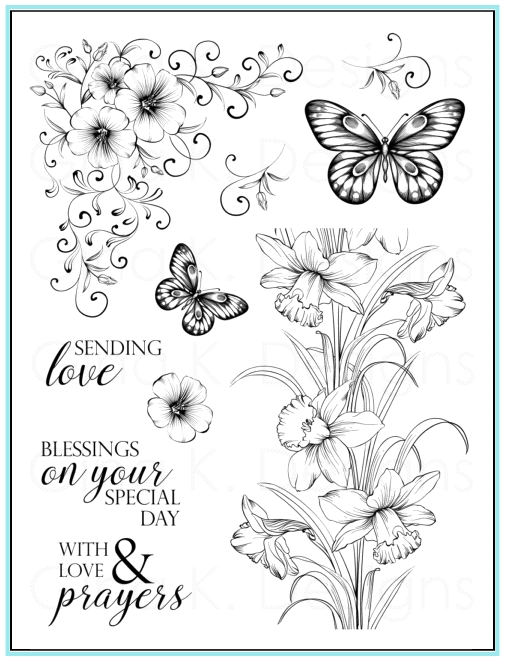 Gina K Designs SENDING LOVE Clear Stamps 9643 zoom image