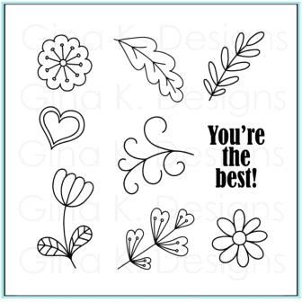 Gina K Designs YOU'RE THE BEST Clear Stamps 9681 zoom image