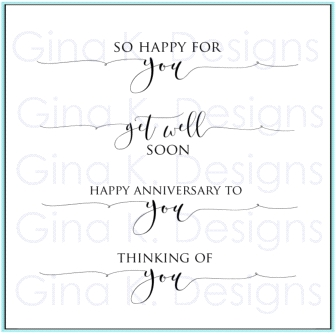 Gina K Designs SCRIPTY SAYINGS 2 Clear Stamps 9728 Preview Image