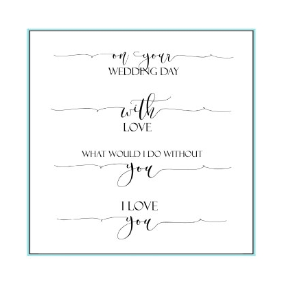 Gina K Designs SCRIPTY LOVE Clear Stamps 9735 Preview Image