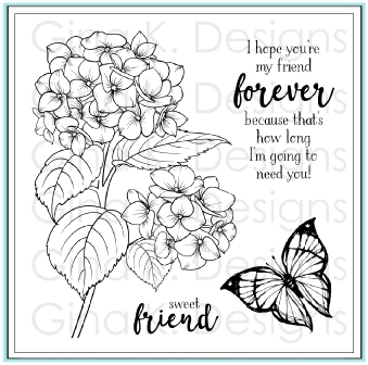 Gina K Designs HEARTFELT HYDRANGEA Clear Stamps 9759 Preview Image