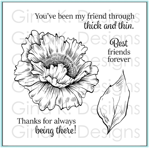 Gina K Designs THROUGH THICK AND THIN Clear Stamps 9780 Preview Image