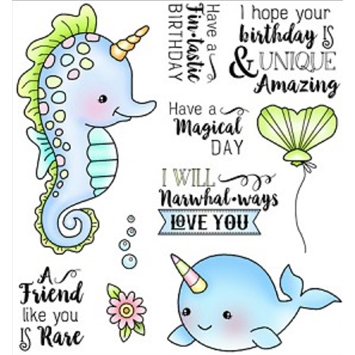 Darcie's FIN-TASTIC Clear Stamp Set POL362 Preview Image