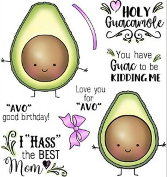 Darcie's HOLY GUACAMOLE Clear Stamp Set POL353 zoom image