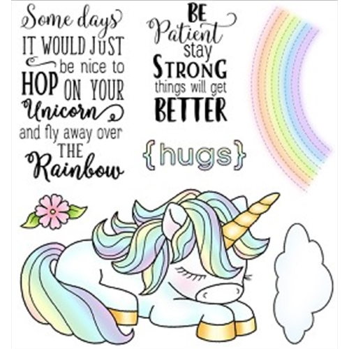 Darcie's HOP ON UNICORN Clear Stamp Set POL359 Preview Image