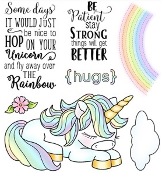 Darcie's HOP ON UNICORN Clear Stamp Set POL359 zoom image