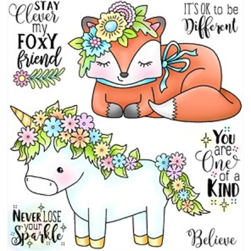 Darcie's OK TO BE DIFFERENT Clear Stamp Set POL360 Preview Image