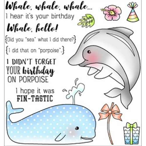 Darcie's WHALE WHALE WHALE Clear Stamp Set POL363 Preview Image