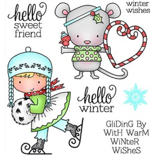 Darcie's HELLO WINTER Clear Stamp Set POL263* Preview Image