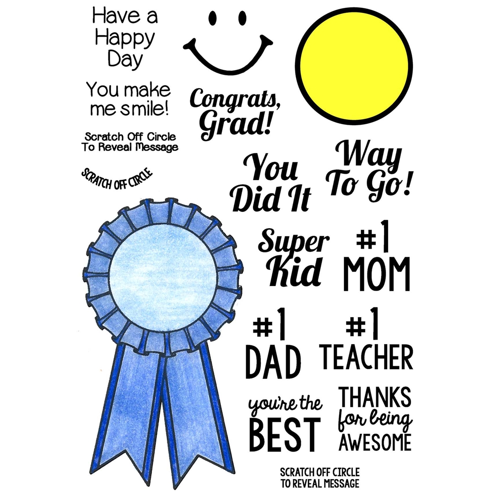 Inky Antics BLUE RIBBON Clear Stamp Set 11375MC zoom image