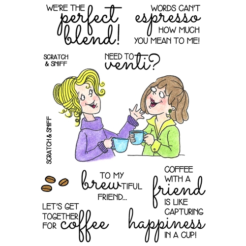 Inky Antics COFFEE BREAK 2 Clear Stamp Set 11372MC Preview Image