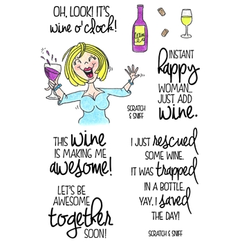 Inky Antics WINE TIME 1 Clear Stamp Set 11373MC