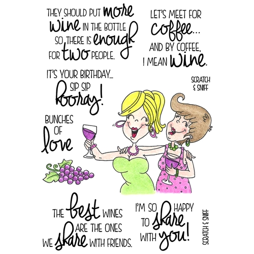 Inky Antics WINE TIME 2 Clear Stamp Set 11374MC Preview Image