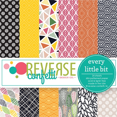 Reverse Confetti EVERY LITTLE BIT 6x6 Inch Paper Pad Preview Image