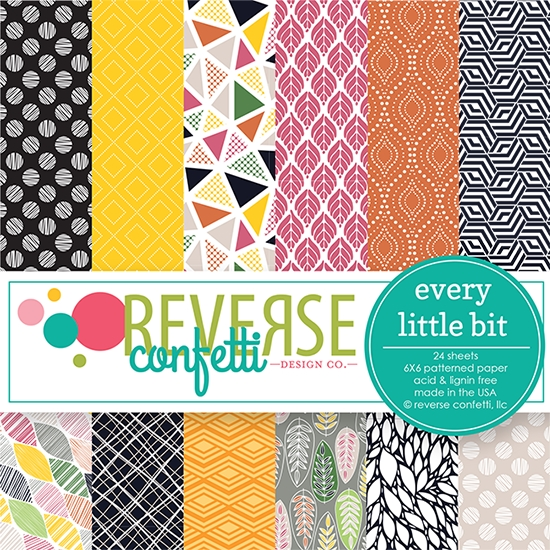 Reverse Confetti EVERY LITTLE BIT 6x6 Inch Paper Pad zoom image