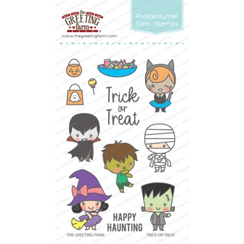 The Greeting Farm TRICK OR TREAT Clear Stamps TGF344*