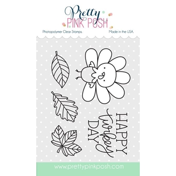 Pretty Pink Posh HAPPY TURKEY Clear Stamp Set