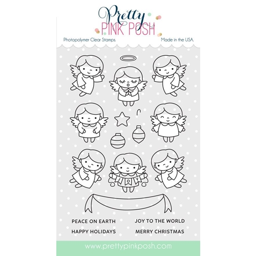 Pretty Pink Posh ANGEL FRIENDS Clear Stamp Set* Preview Image
