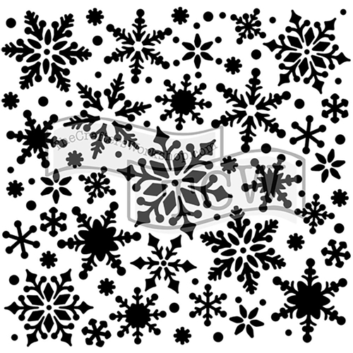 The Crafter's Workshop SMALL SNOWFLAKES 6x6 Template TCW720s Preview Image