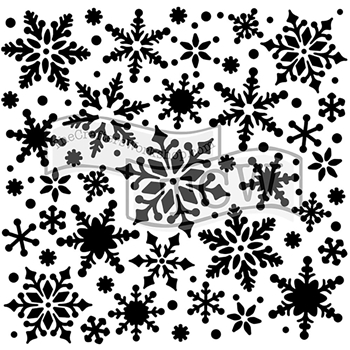 The Crafter's Workshop SMALL SNOWFLAKES 6x6 Template TCW720s
