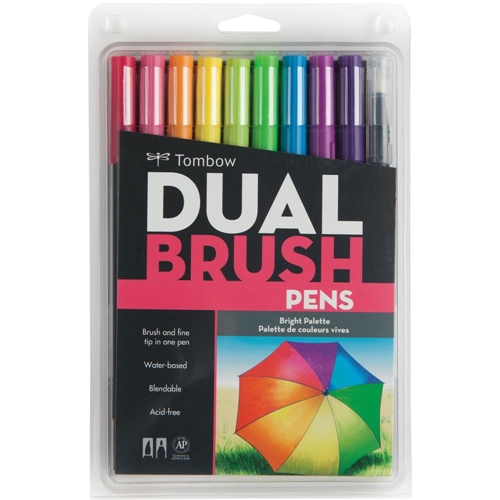Tombow BRIGHT Dual Brush Pens 10 Pack 56185* Preview Image