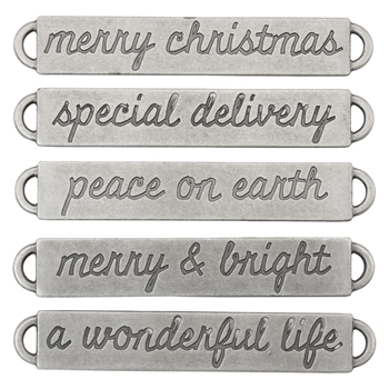 Tim Holtz Idea-ology CHRISTMAS Word Bands Findings th93742
